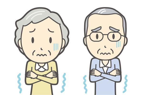 冷え性の高齢男女