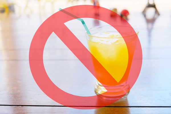 ジュース禁止