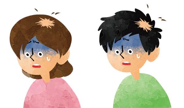円形脱毛症の男女