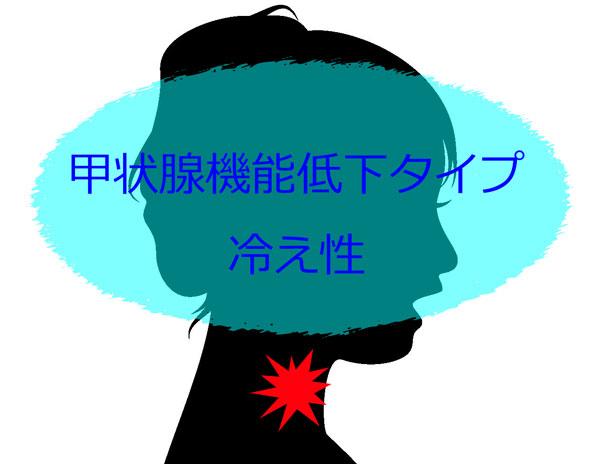 甲状腺機能低下タイプ冷え性