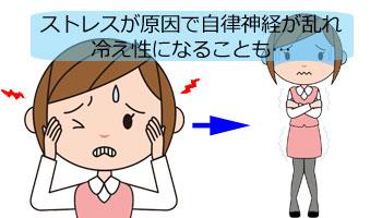 ストレスが原因で冷え性になる女性