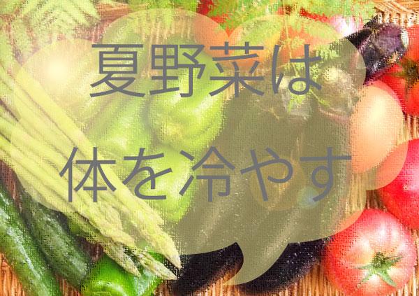 夏野菜は体を冷やす