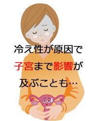 冷え性が原因で子宮に影響が及ぶ