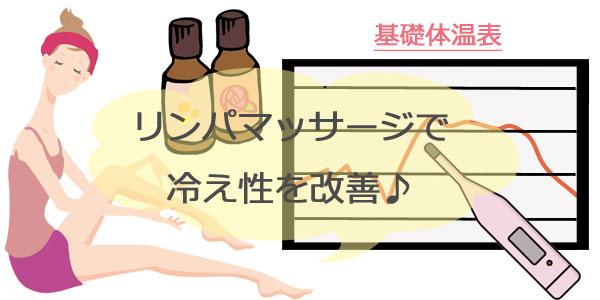 リンパマッサージで冷え性改善