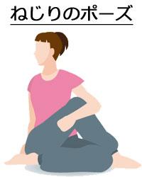 ねじりのポーズ